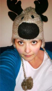 Moose on my head.